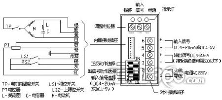 电动防爆球阀电动执行器接线图