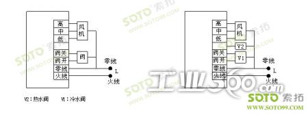 关闭电动阀及风机 4 st-t3100 d 风机盘管 电动风阀 控制电动风口或图片
