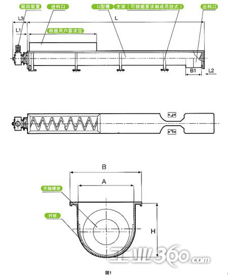 无轴螺旋输送机图纸_螺旋输送机_螺旋输送机结构图_银澜手机图片壁纸