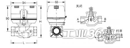 风机盘管电动阀图片