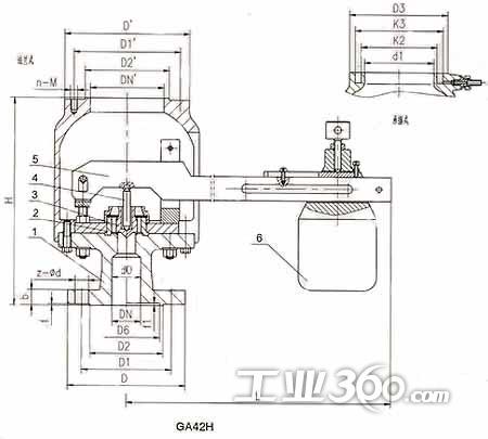 ga42h型单杠杆安全阀图片