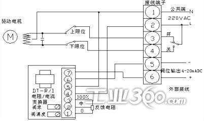 与电动执行机构接线图