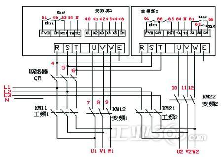 2 电路实现   油泵电机改造电路控制较为简单,主电路保留原有设备中的