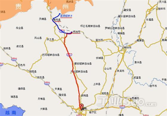 柳州到通道地图
