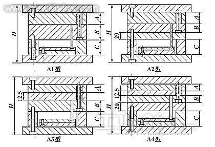 图14种典型的模架结构图