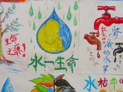 保护水资源的招贴画手绘-非同寻常的节水宣传画 组图 1