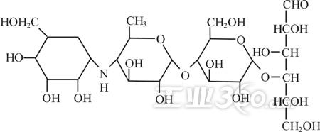 蛣2分子结构式示意图