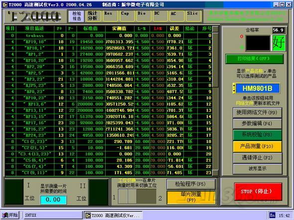 软件系统在windowsnt和windows98组成的局域网下运行,测试数据和测试图片