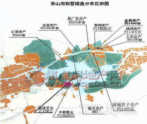 青山湖别墅分布图